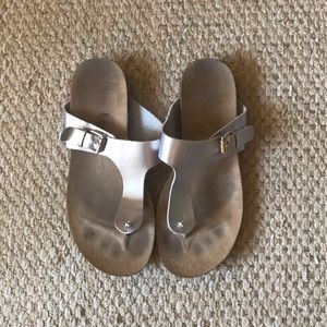 Dr. Scholl's Silver Sandals